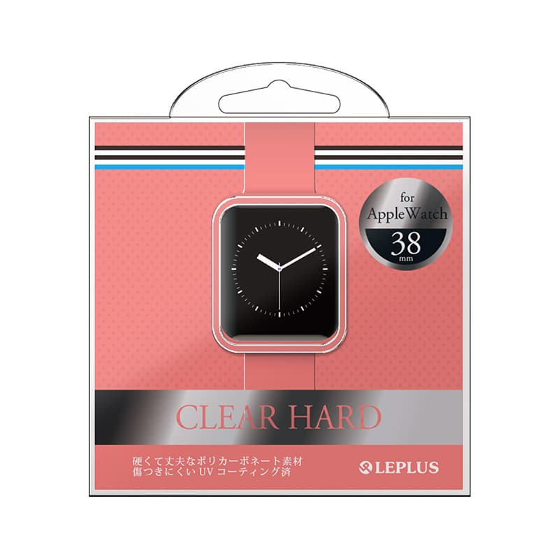 AppleWatch 38mm ハードケース 「CLEAR HARD」 クリアピンク