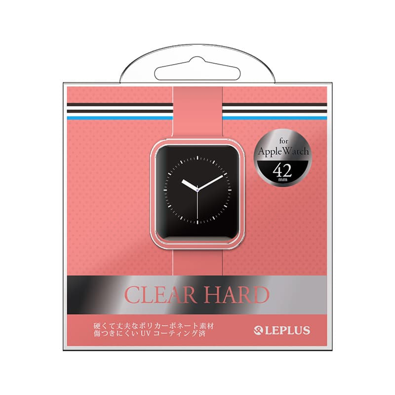 AppleWatch 42mm ハードケース 「CLEAR HARD」 クリアピンク