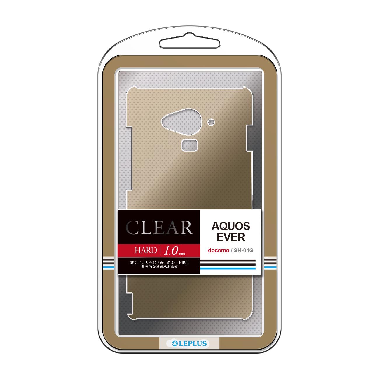 AQUOS EVER SH-04G ハードケース 「CLEAR HARD」 クリアゴールド