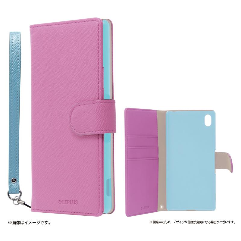 Xperia(TM) Z4 SO-03G/SOV31/402SO ブックタイプPUレザーケース「BOOK C(キュート)」 ピンク