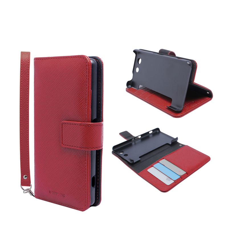 Xperia(TM) A4 SO-04G ブックタイプPUレザーケース「BOOK S(スマート)」 レッド