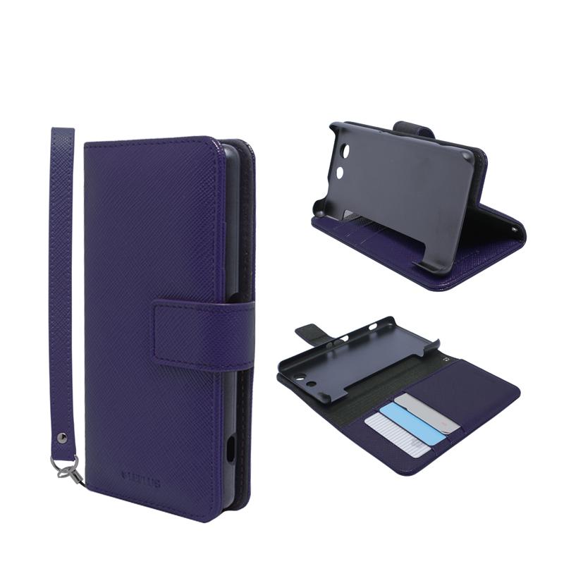 Xperia(TM) A4 SO-04G ブックタイプPUレザーケース「BOOK S(スマート)」 ネイビー
