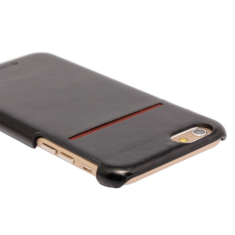 □iPhone 6 Plus/6s Plus [PRIME] PUレザーシェルケース ブラック