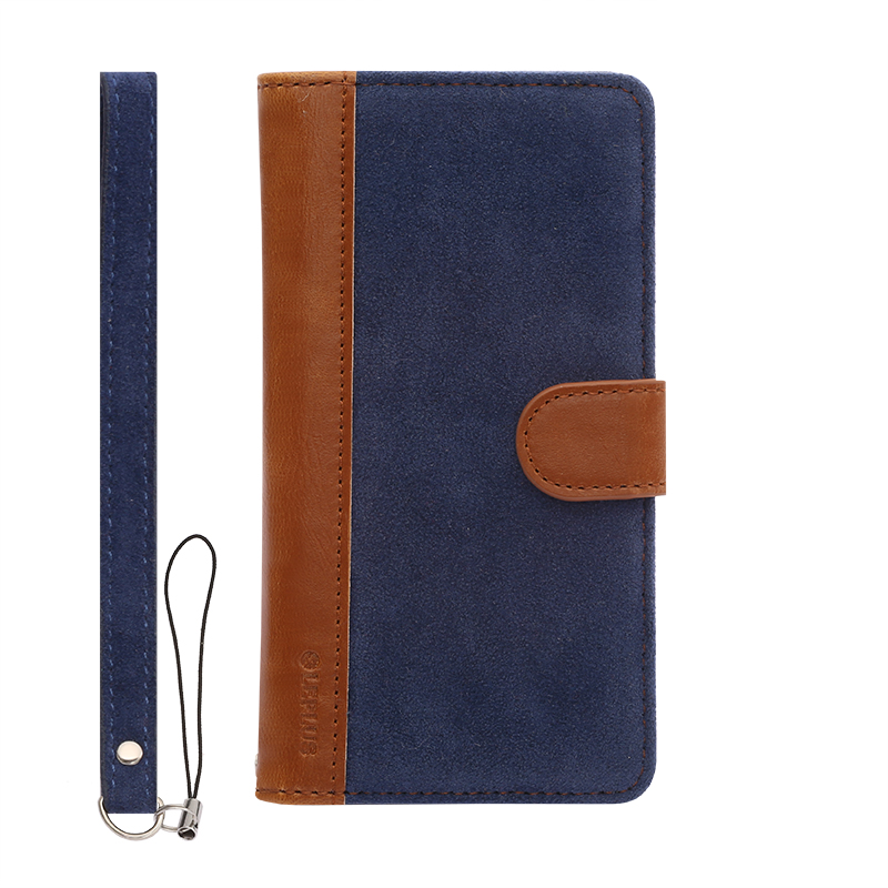 iPhone 6/6s ファブリックデザインケース「BOOK Fabric」 ハーバー(A)