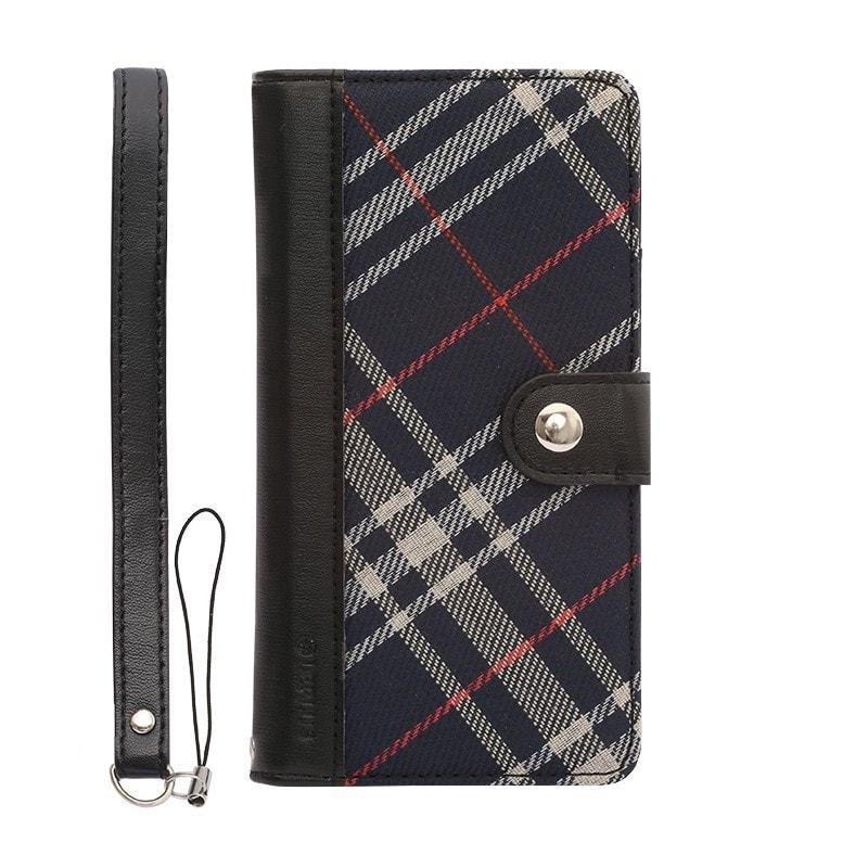 iPhone 6/6s ファブリックデザインケース「BOOK Fabric」 チェック(B)