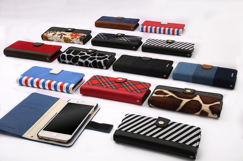 iPhone 6/6s ファブリックデザインケース「BOOK Fabric」 プランター(B)