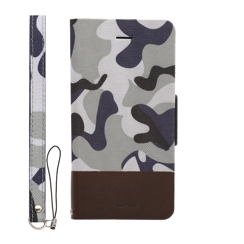 iPhone 6/6s 薄型ファブリックデザインケース「PRIME Fabric」 カモフラージュ(B)