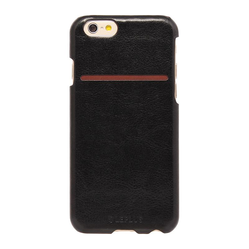 □iPhone 6/6s [PRIME] PUレザーシェルケース ブラック