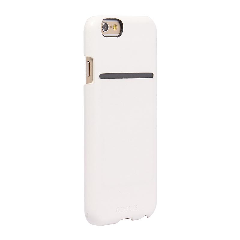 □iPhone 6/6s [PRIME] PUレザーシェルケース ホワイト