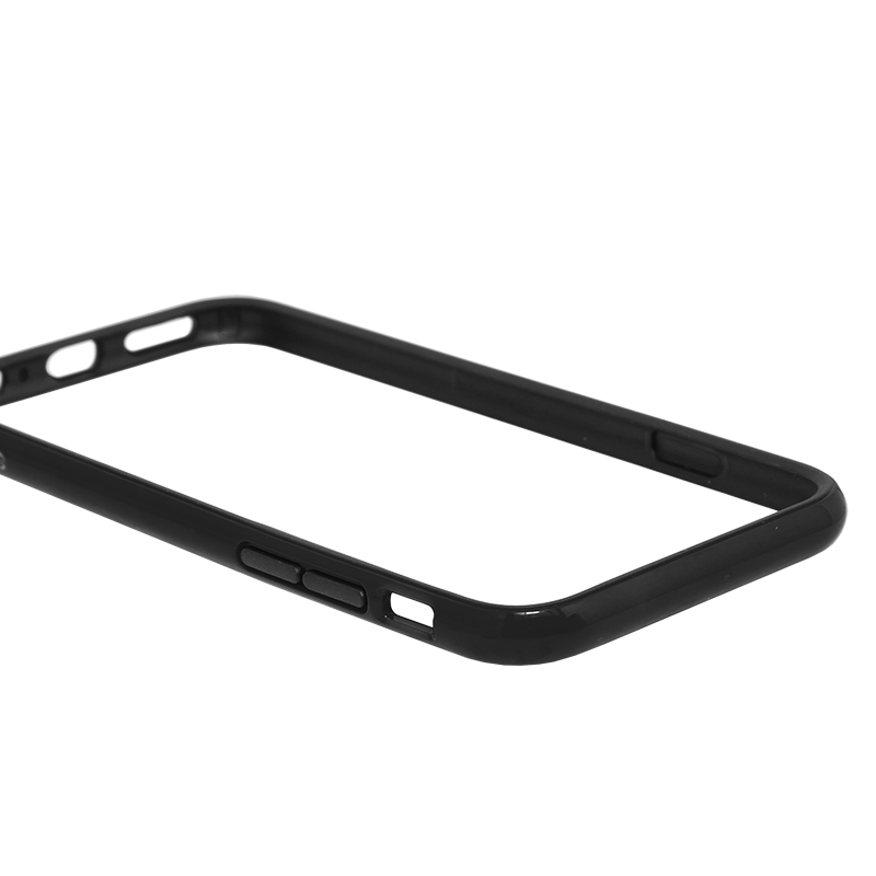 □iPhone 6/6s [SLIM LINE] ハイブリッドバンパー ブラック