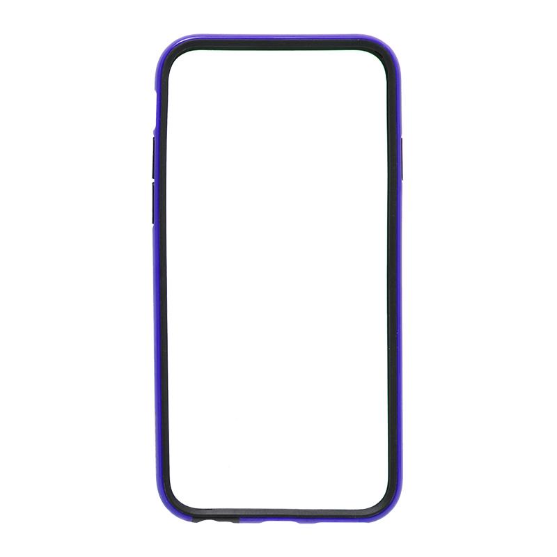 □iPhone 6/6s [SLIM LINE] ハイブリッドバンパー ネイビー