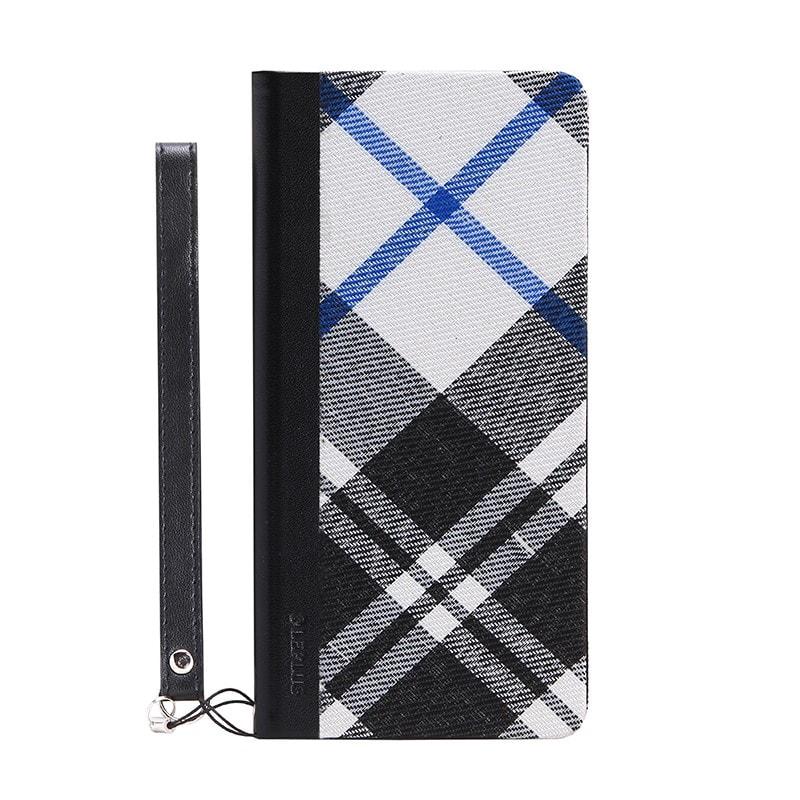 arrows NX F-02H 薄型ファブリックデザインケース「PRIME Fabric」 チェック柄(黒)