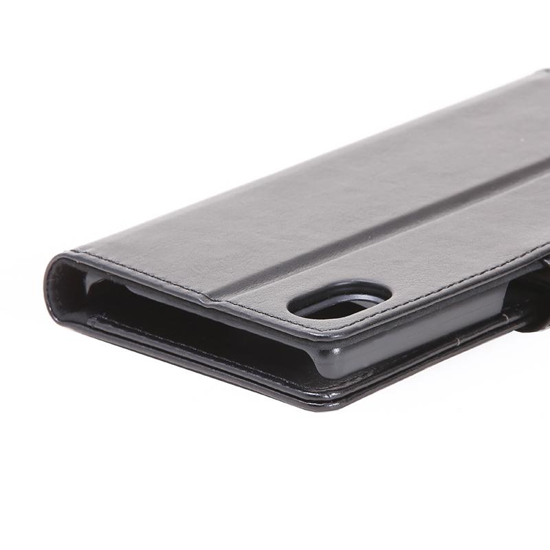 Xperia(TM) Z5 SO-01H/SOV32/501SO ブックタイプPUレザーケース「BOOK A」 ブラック