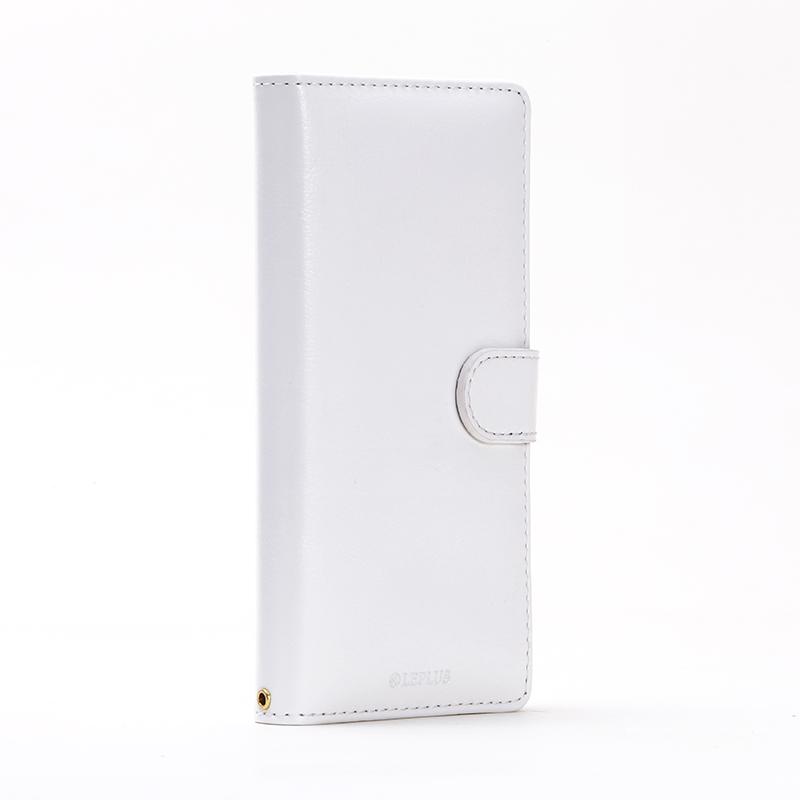 Xperia(TM) Z5 SO-01H/SOV32/501SO ブックタイプPUレザーケース「BOOK A」 ホワイト