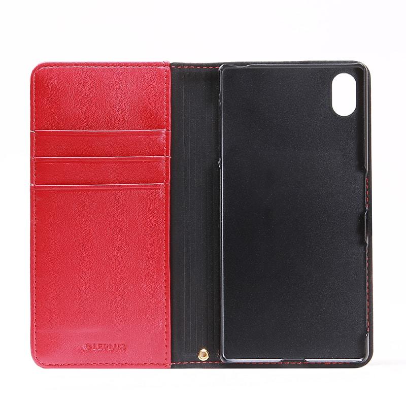 Xperia(TM) Z5 SO-01H/SOV32/501SO ファブリックデザインケース「BOOK Fabric」 チェック柄