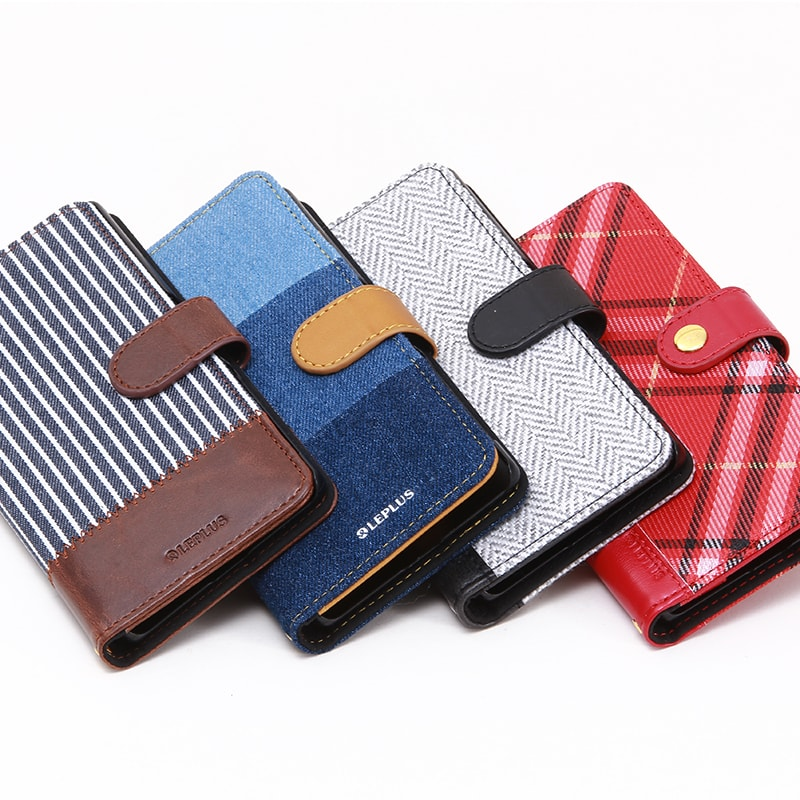 Xperia(TM) Z5 SO-01H/SOV32/501SO ファブリックデザインケース「BOOK Fabric」 ヘリンボーン柄