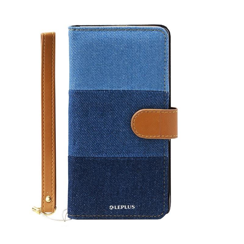Xperia(TM) Z5 SO-01H/SOV32/501SO ファブリックデザインケース「BOOK Fabric」 3色デニム柄