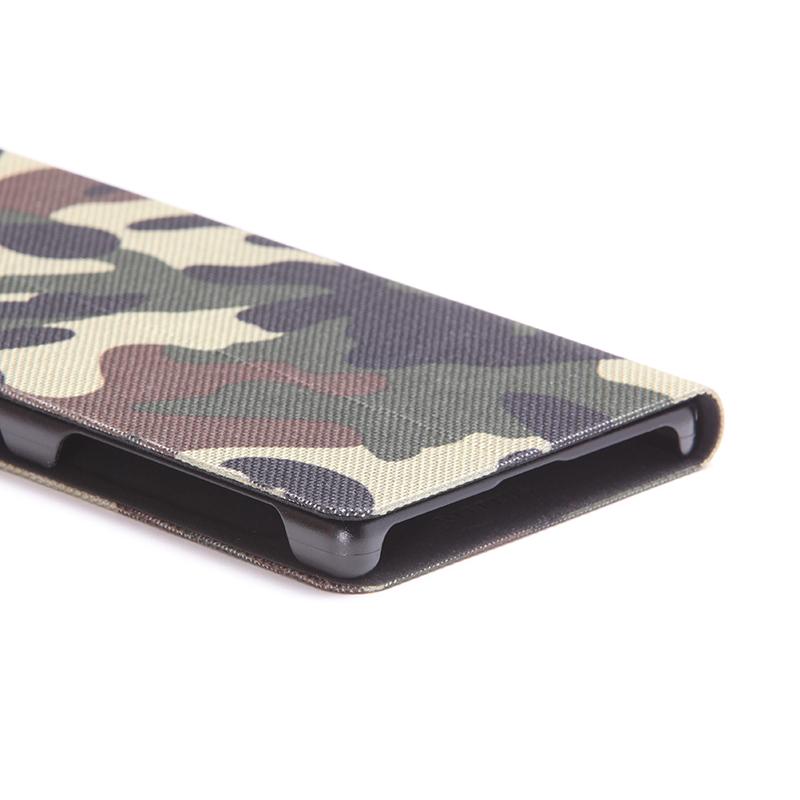 Xperia(TM) Z5 Premium SO-03H 薄型ファブリックデザインケース「PRIME Fabric」 カモフラ柄