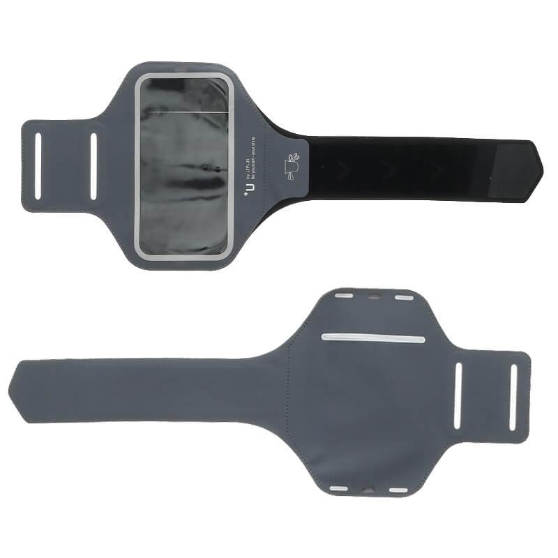 スマートフォン汎用 【+U】Aaron/Armband-Type/スマートフォンケース/ジェットブラック