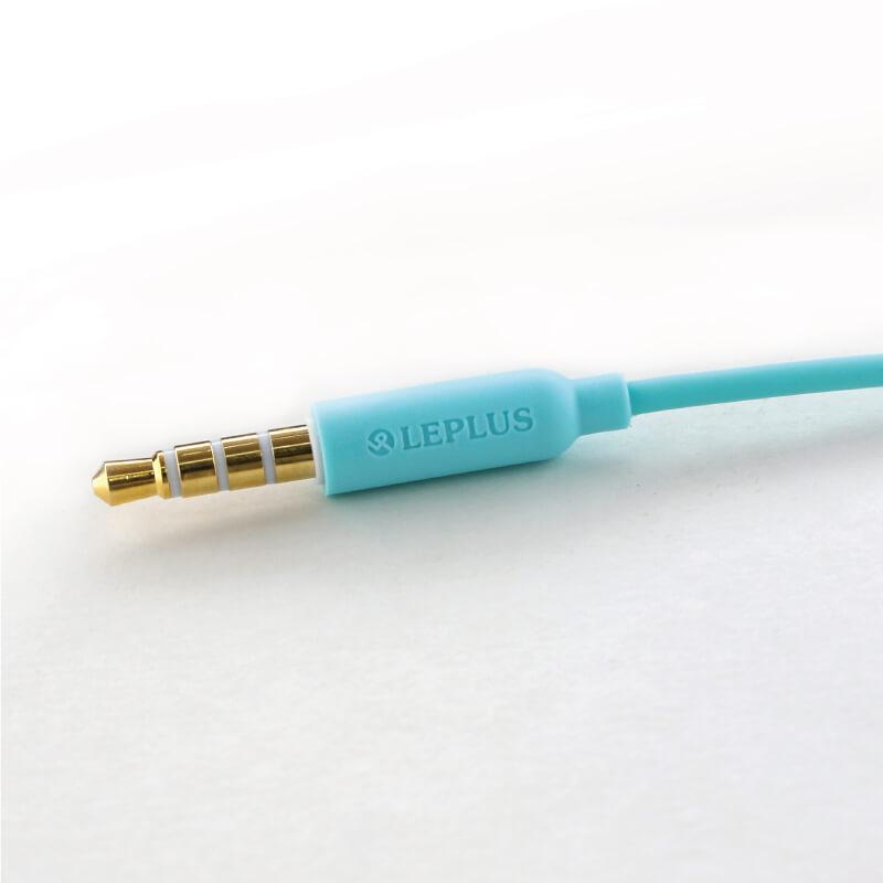 iPhone/スマートフォン イヤフォン(ボリューム/マイク付)「極の音域 PLAIN(プレーン)」ホワイト