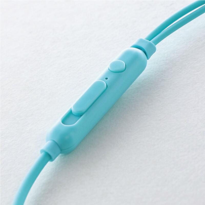 スマートフォン(汎用) イヤフォン(ボリューム/マイク付)「極の音域 Type-C PLAIN(プレーン)」 ブルー