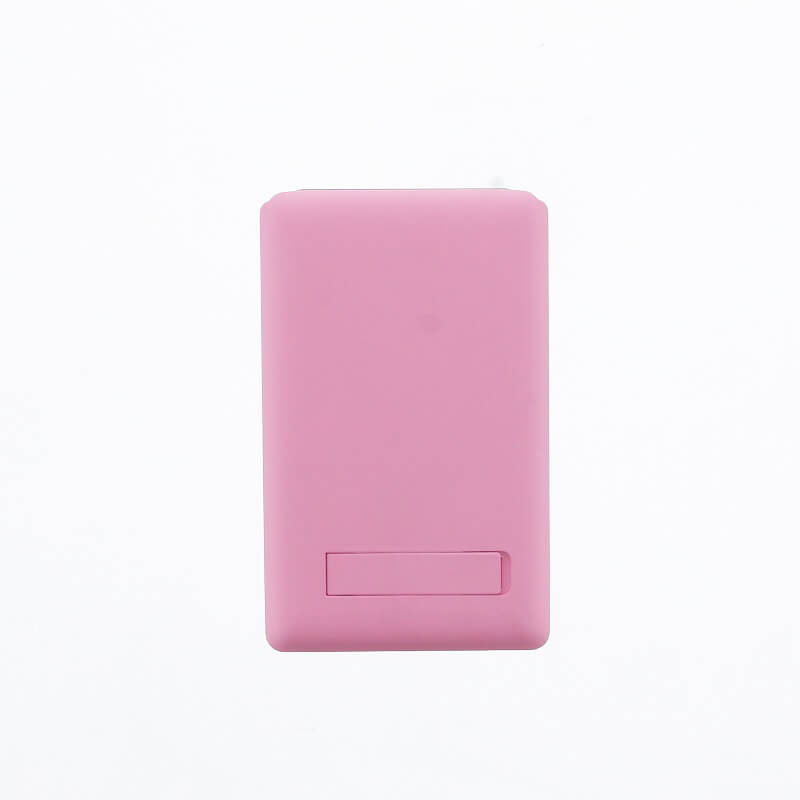 スマートフォン(汎用) 【Lucy】ミラー付きカードポケット/ピンク