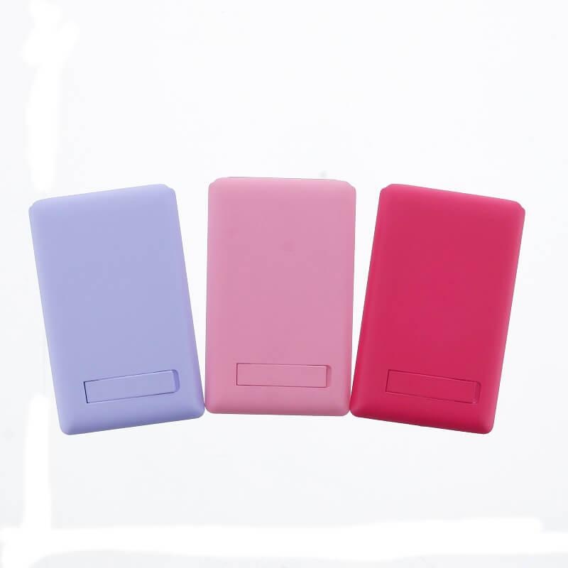 スマートフォン(汎用) 【Lucy】ミラー付きカードポケット/ホットピンク