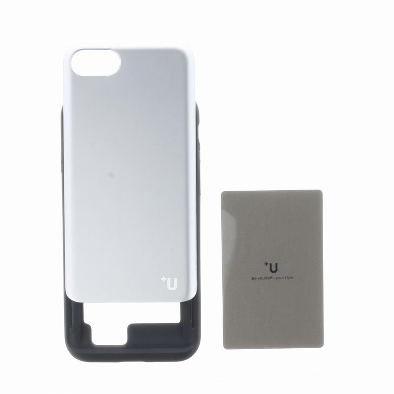 iPhone 8/7【+U】Kyle/Slide式カード収納ハイブリットケース/シルバー