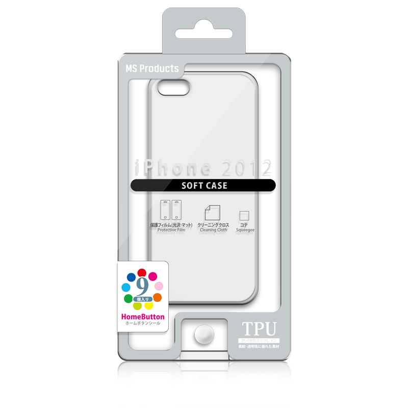 iPhone 2012 TPUケース クリア