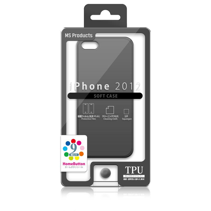 iPhone 2012 TPUケース スモーク