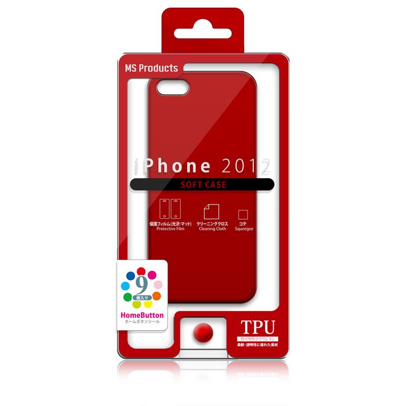 iPhone 2012 TPUケース レッド