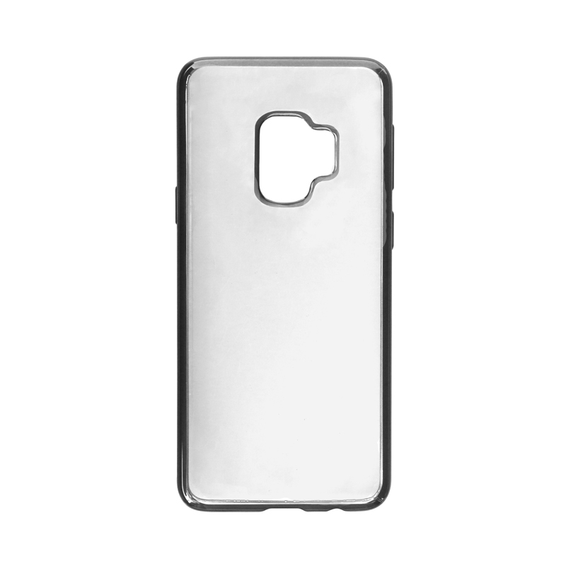 Galaxy S9 SC-02K/SCV38 TPUメタルケース「CLEAR METAL」 チタン