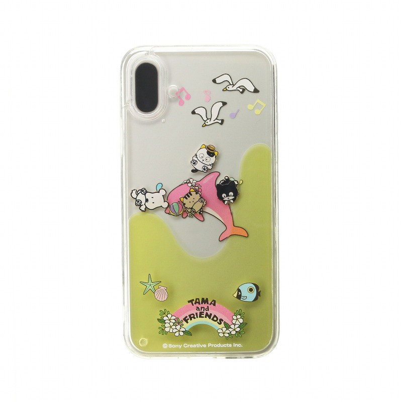 □iPhone XS/iPhone X /タマ&フレンズ Design/ウォーターハイブリットケース/イエロー