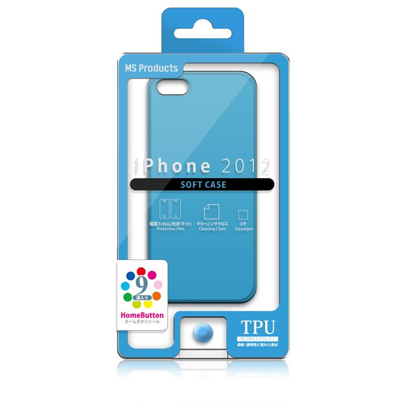 iPhone 2012 TPUケース ブルー