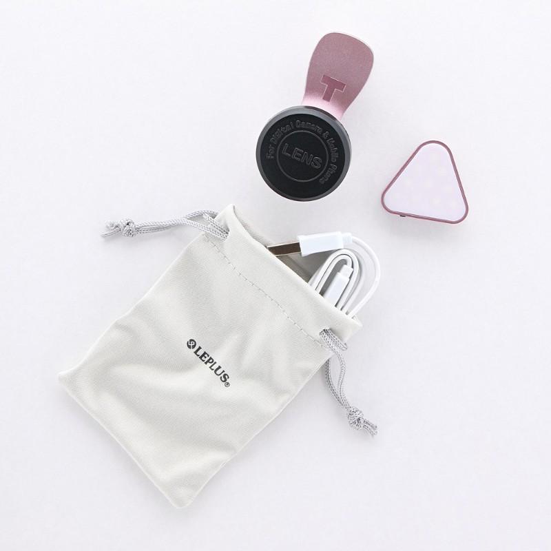 スマートフォン(汎用) クリップ式自撮りライトレンズ 「Tolka」(トルカ) ブラック