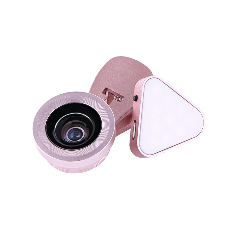 スマートフォン(汎用) クリップ式自撮りライトレンズ 「Tolka」(トルカ) ピンク
