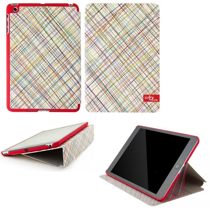 iPad Air対応/スタンドになるケース/Scribble In Red