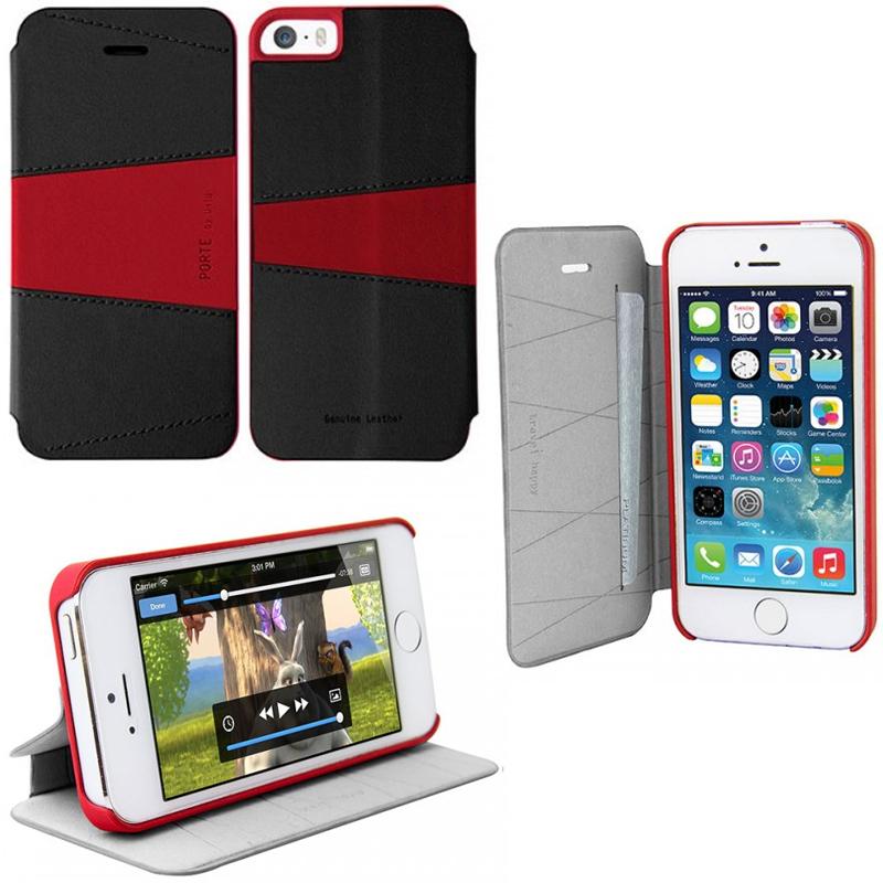 iPhone SE/5S/5対応/スタンドにもなるケース/カード収納可能/Albania Stroll