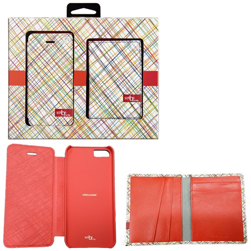 【Uniq】【Gift Pack】【Scribe】iPhone SE/5S/5 + Name Card Holder(Scribble In Red)