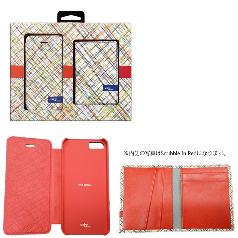 【Uniq】【Gift Pack】【Scribe】iPhone SE/5S/5 + Name Card Holder(Scribble In Blue)