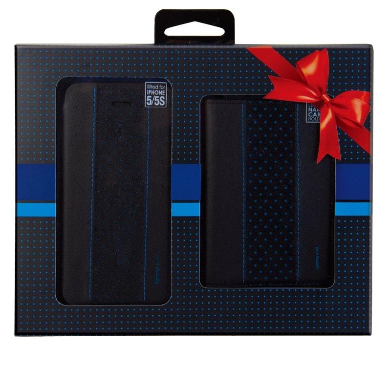 【Uniq】【Gift Pack】【Homme】iPhone SE/5S/5 + Name Card Holder  (Bleu Moment)