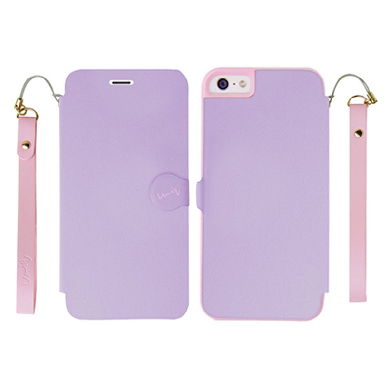 iPhone5/5S対応/スタンドににもなるケース/カード収納可能/ Lilac Dream