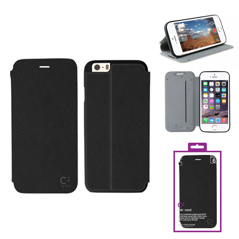 【Uniq】iPhone6/C2/Blackout Madness(表面:PUレザー 合皮)(裏面:TPU)