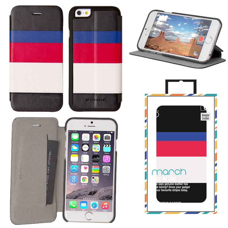 【Uniq】iPhone6_6S/March/ Captain Snazzy(表面: Geniune Leather 本革)(裏面:ポリカーボネート)