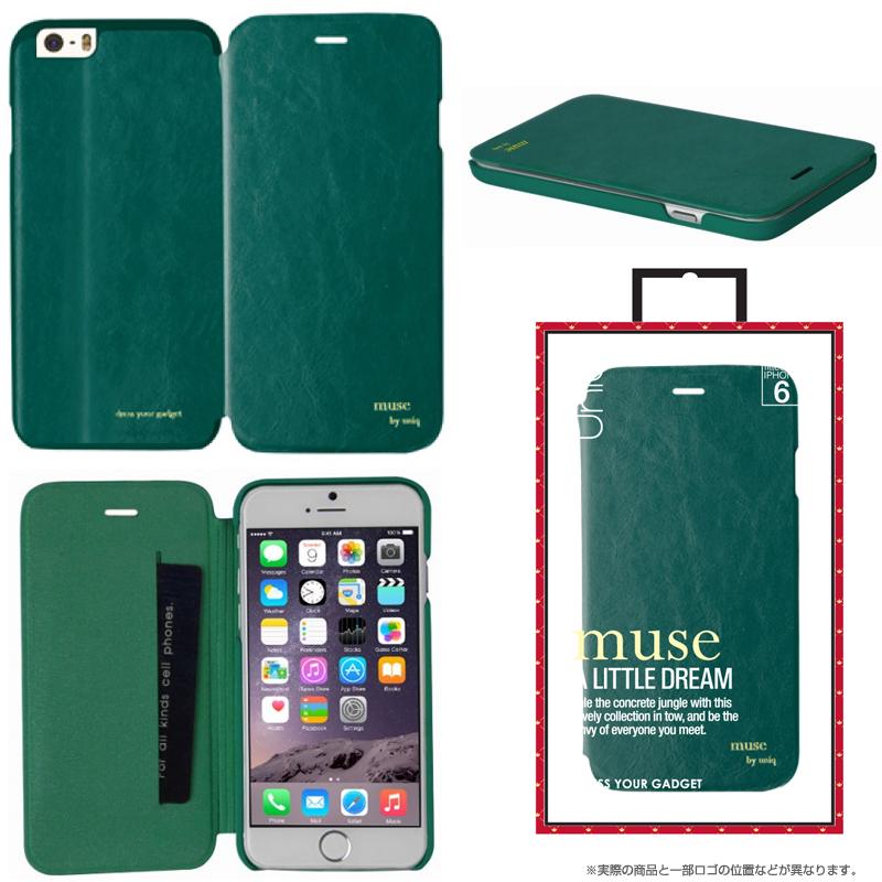 【Uniq】iPhone6/Muse/ Emerald Envy(表面:PUレザー 合皮)(裏面:ポリカーボネート)