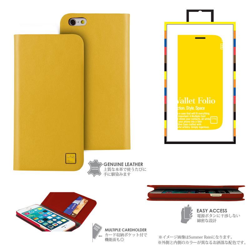 【Uniq】iPhone6_6S/Optimist/ Cherry Sunshine(表面: Geniune Leather 本革)(裏面:ポリカーボネート)