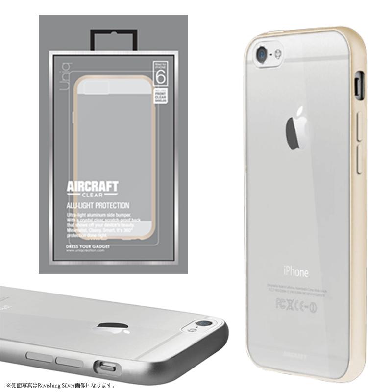 【Uniq】iPhone6/Aircraft Clear/Elegant Gold(側面:アルミニウムバンパー)(背面:TPU)