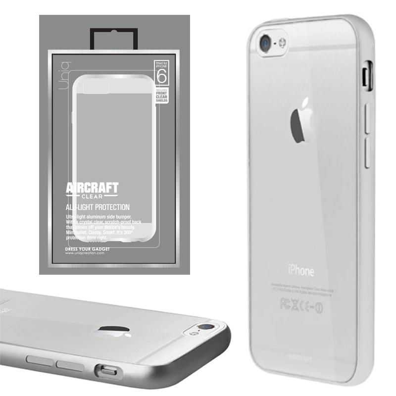 【Uniq】iPhone6/Aircraft Clear/Ravishing Silver(側面:アルミニウムバンパー)(背面:TPU)