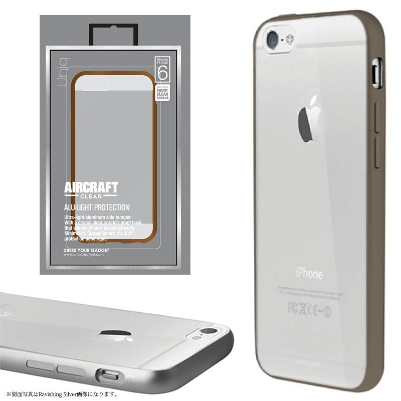 【Uniq】iPhone6/Aircraft Clear/Titan Bronze(側面:アルミニウムバンパー)(背面:TPU)