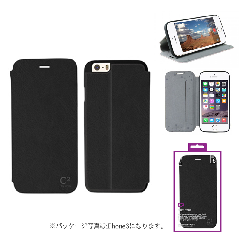 【Uniq】iPhone 6Plus/C2/Blackout Madness(表面:PUレザー 合皮)(裏面:TPU)